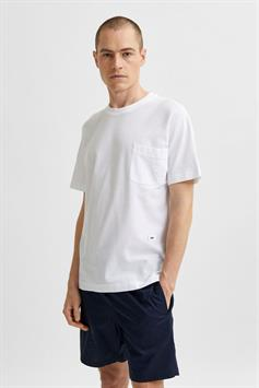 selected heren t-shirt korte mouw slhrelaxalbion ss o-neck tee g 16079033