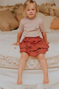 sproet & sprout kids rok ruffle print cherry s21-748