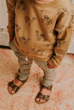 sproet & sprout kids sweater print camel s21-732