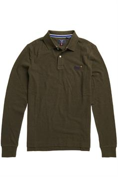 superdry heren polo lange mouw ls classic pique polo m1110093a