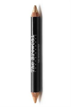 the browgal highlighter pencil double ended shimmer/matte gold/nude 02