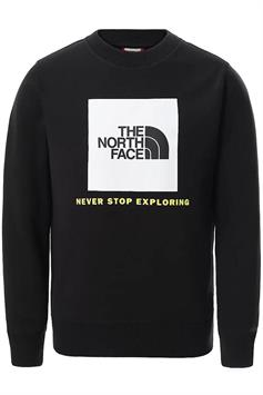the north face jongens sweater y box crew nf0a37fy