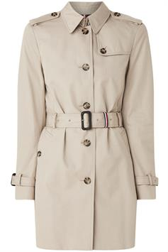 tommy hilfiger dames jas heritage single breasted trench ww0ww24966
