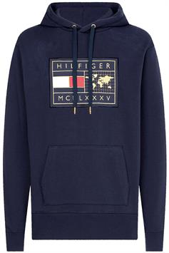 tommy hilfiger heren sweater icon earth badge hoodie mw0mw18719