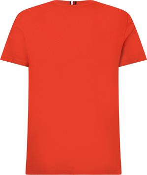 tommy hilfiger heren t-shirt stacked tommy flag tee mw0mw17663