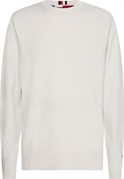 tommy hilfiger heren trui embossed graphic sweater mw0mw18605
