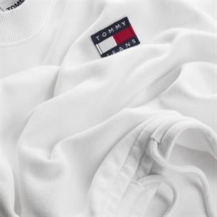 tommy jeans dames sweater tjw super cropped badge crew dw0dw09797