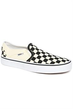 vans dames sneakers asher (chckrbrd)black/white vn000vosapk1