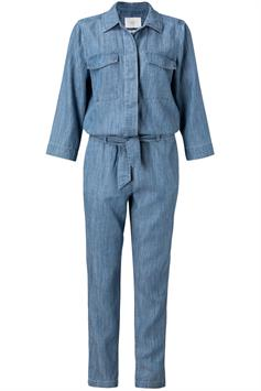 yaya dames jumpsuit chambray jumpsuit with pockets 124122-014